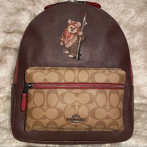 Limited Ed. STAR WARS x COACH EWOK Backpack Brown
